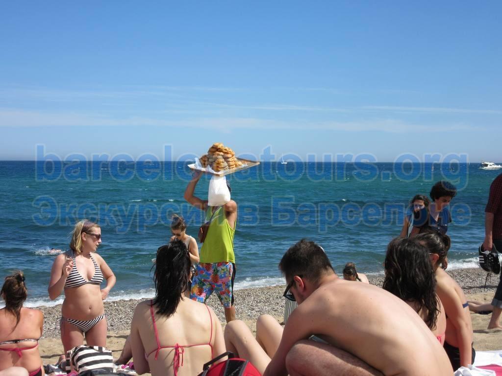 Пляж. Барселона
